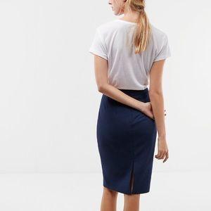 Express Pencil Skirt Gray